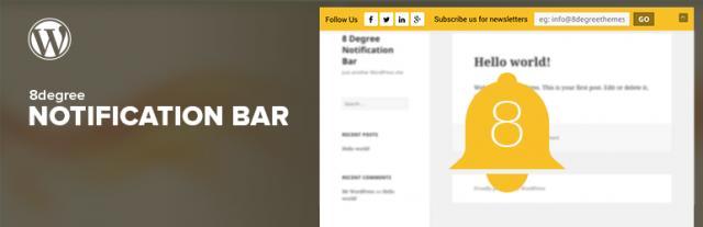 Wtyczka Notification Bar for WordPress