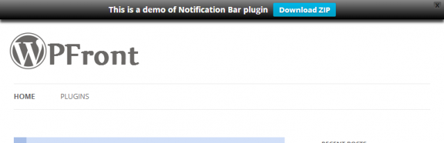 Wtyczka WPFront Notification Bar