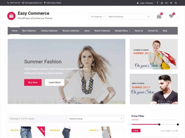wordpress woocommerce - Szablon Easy Commerce